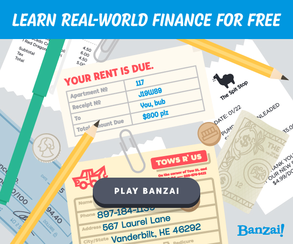 Banzai Financial Literacy Program Banner