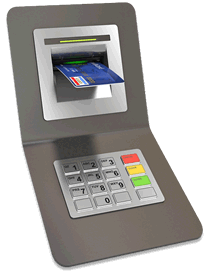 ATM machine and card