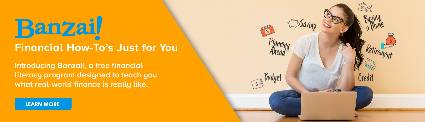 Banzai Financial Literacy Program Banner Ad